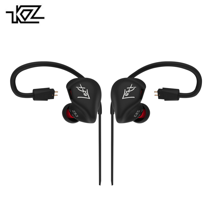Original KZ ZS3 Hifi Earphone With/Without Microphone Metal Heavy Bass Sound Music Earphone Phone Calls For Mobile Phone PC MP3 new metal earphone head phone metal dj stereo bass earphone for iphone samsung xiaomi mobile mp3 hifi original brand auriculares