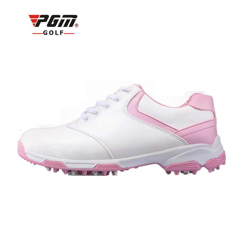 Ultra Shoes Special Offer 2018 New Genuine Pgm Golf Shoes Design Patent Anti-skid Spikes Female Models Breathable Waterproof kelme 2016 new children sport running shoes football boots synthetic leather broken nail kids skid wearable shoes breathable 49