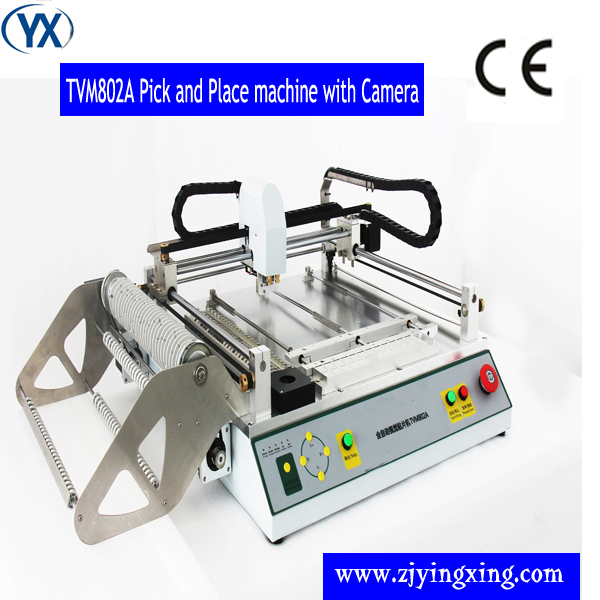 2018 Manual Small PNP Machine LED Light Making Machine  TVM802A with cameras and feeders 0402 0805 QFN QFP BGA|Welding Nozzles|   - title=