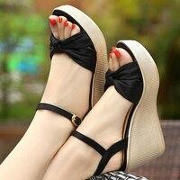 {D&Henlu}Wedges Shoes For Women Size 3 Ladies Wedge Sandals Platform Sandals Shoes Woman Size 43 Shoe sandalia de verano mujer