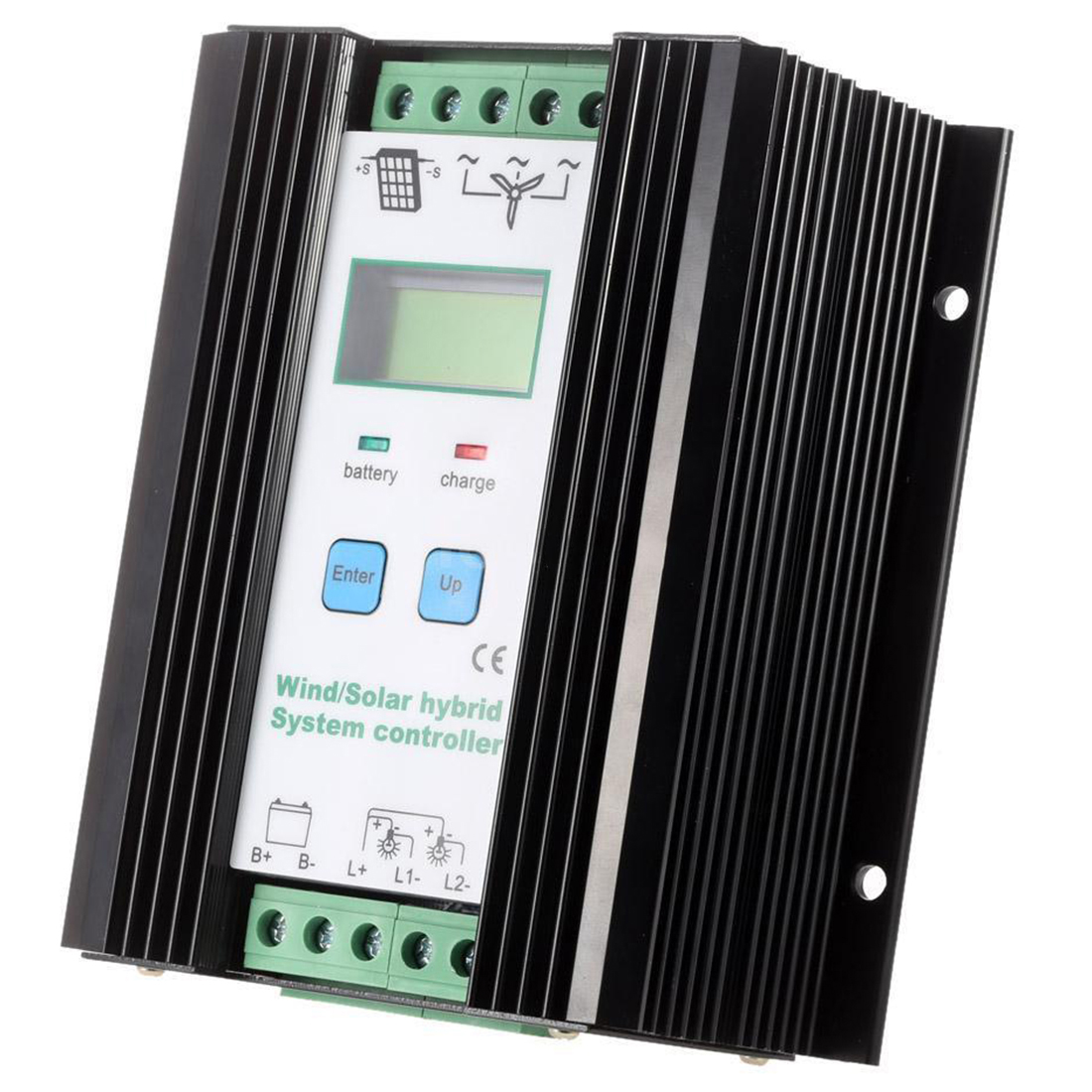 Wind&Solar Hybrid PWM Controller(600W Wind+400W Solar) 12V/24V Automatic 600w wind solar hybrid controller 400w wind turbine 200w solar panel charge controller 12v 24v auto with big lcd display