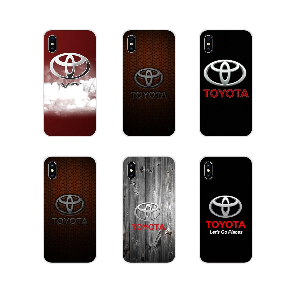For Apple iPhone X XR XS MAX 4 4S 5 5S 5C SE 6 6S 7 8 Plus ipod touch 5 6 Accessories Phone Cases Covers cool car toyota logo