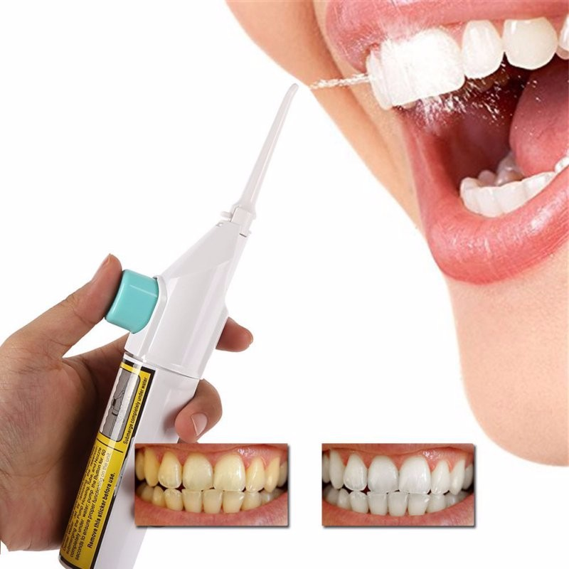 Portable Air Dental Hygiene Floss Oral Irrigator No Batteries Dental Water Jet Cleaning Tooth Mouthpiece Mouth Denture Cleaner
