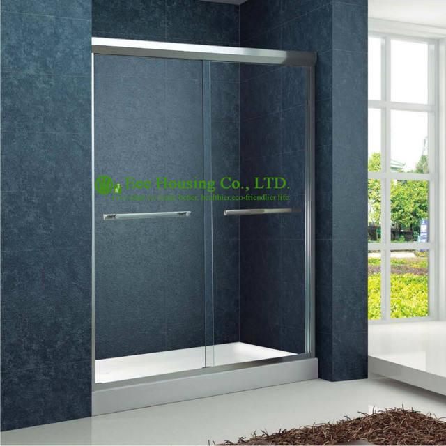 Tienda Online Ducha doble corredera de aluminio bypass Puertas de ...