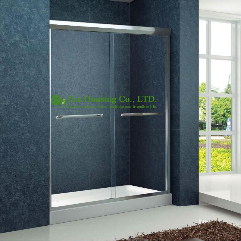 bao con ducha doble bypass ducha puertas correderas de aluminio correderas de cristal templado cerrado