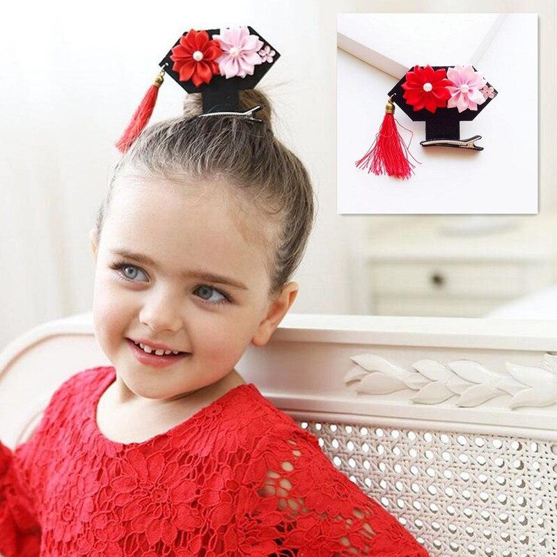 Chinese TV Pearl Princess hair clips girls Mini Tassel ...