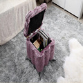 New wood +Crystal sofa stool,change shoe stool,senior flannel fabric,multifunctional luxury living room furniture,Storage sofa