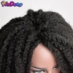 Женский/мужской парик DinDong, мягкий синтетический парик из волос с косами марли, 18 дюймов
