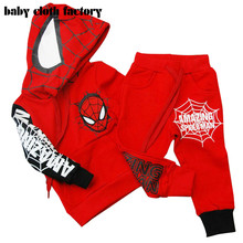 2016 Spring new boy children's clothing spider man costume spiderman suit spider-man costume Children's Sets