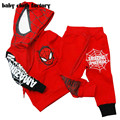 2016 Spring new boy children's clothing spider man costume spiderman suit spider-man costume Children's Sets
