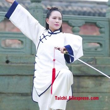 Wudang Tai chi clothing female high quality flax Taiji clothing Tai Chi uniforms Kung Fu performance clothing Wushu Clothing