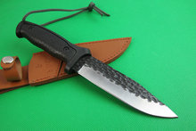 BUCK Heavy Handmade Forged Fixed Blade Knife Sharp Hunting Knife Survival Camping Tactical knives 7-3-0# Very fast delivering