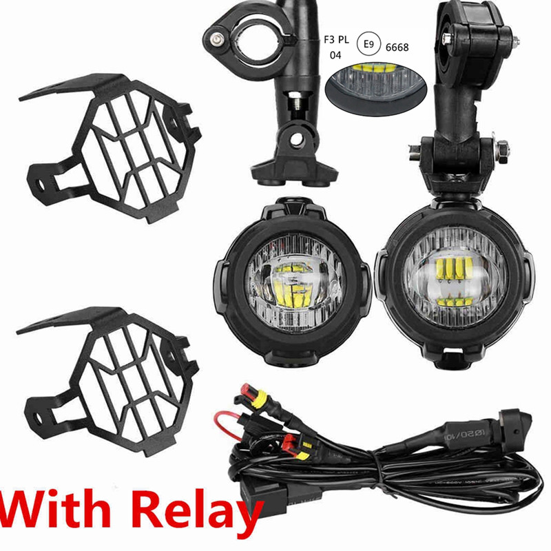 2 40W LED Auxiliary Fog Light Assemblies Safety Driving Lamp Motorcycle for BMW R1200GS F800GS.5jpg5
