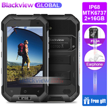 Hızlı kargo Blackview BV6000S Cep Telefonu Quad Core 4G LTE FDD 2 GB + 16 GB 13.0MP IP68 Su Geçirmez smartphone