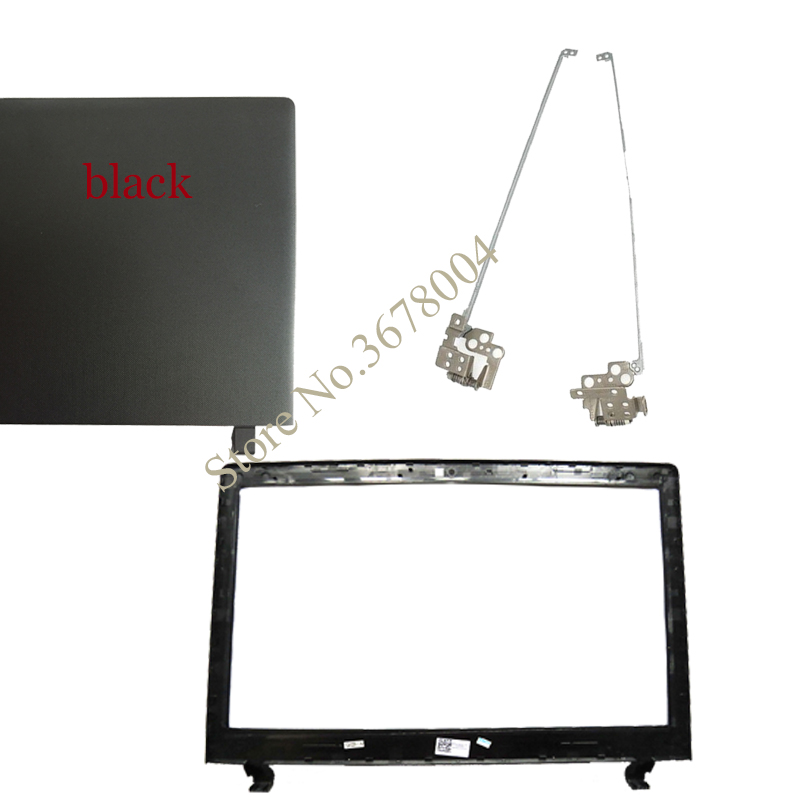 NEW FOR LENOVO Ideapad 100-15 100-15IBY B50-10  Black LCD Top Cover Case/LCD Bezel Cover/LCD Hinges