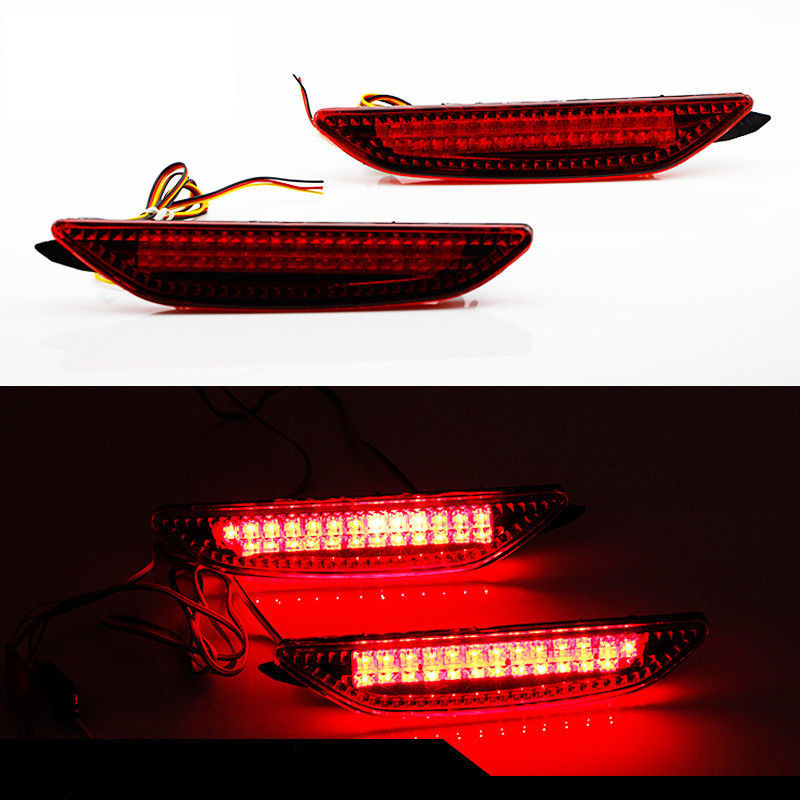ФОТО Auto Car Accessories LED Tail Brake Lights Rear Bumper Reflector Lamp Parking Light For Kia Rio K2 Sedan 2011 2012 2013