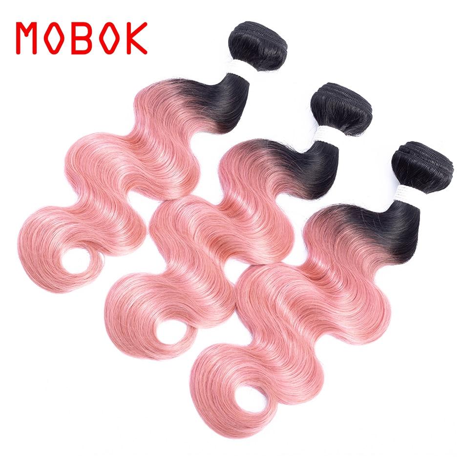 Mobok Hair Pre Colored Non Remy Body Wave Hair Brazilian