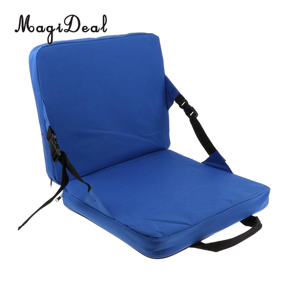 Folding Chair With Cushion Covers For Wingback Recliners Magideal Rocking Cushions Outdoor Fishing Seat Back Pad Car Stadium