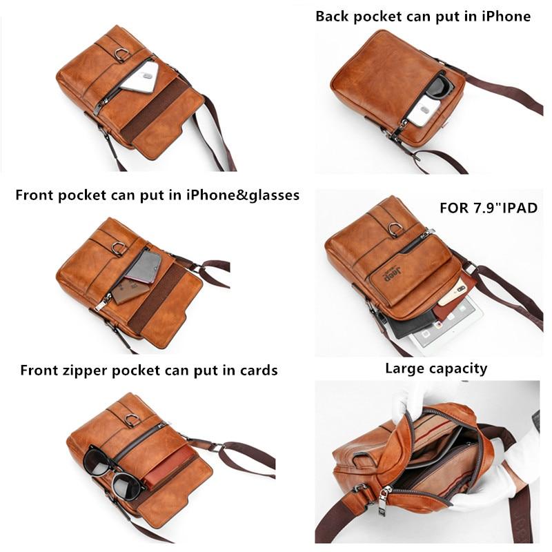Image 4 - JEEP BULUO, роскошные Брендовые мужские сумки мессенджеры, через плечо, деловые повседневные сумки, мужская кожаная сумка на плечо, большая ВМЕСТИТЕЛЬНОСТЬ