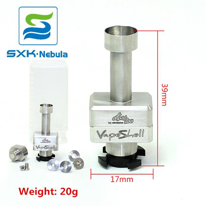 Free Shipping Vape Shell SXK New Vapeshell Atomizone's RBA Bridge For Billet Box Boro Tank Compatible Vape Shell