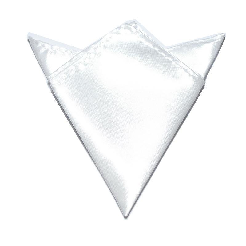 HOOYI Men's Pocket Square Towel Business Handkerchiefs White