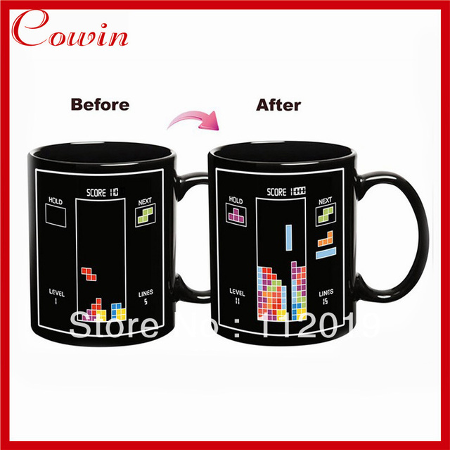 Free shipping New Thermal building block change color cup Iskander Mukhamadeyev Heat Change Ceramic Mug creative gift mug