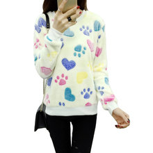 Cute Pattern velvet warm sweater women Pullover Winter Sweaters 2017 fashion Jersey Mujer Womens Jumpers Christmas Sweater