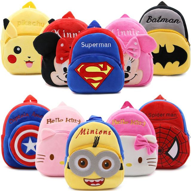 2019 Cartoon Kids Plush Backpacks Baby Mini Schoolbag Hello Kitty kindergarten Backpack Cute Children School Bags for Girls Boys