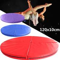 120X10cm Folding Pole Dance Safety Yoga Mat Floor Home Gym Exercise Fitness Pad Portable Round Dance Mats Training Body Building