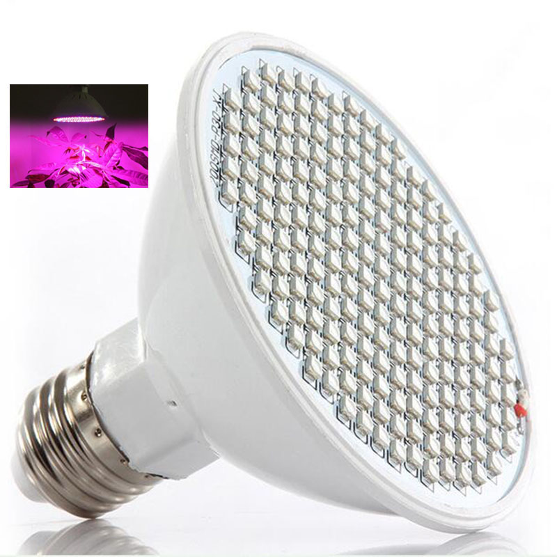 200 LED Plant Grow Light Lamp Growing Lights Bombillas Sistema hidropónico para plantas Semillas de flores Vegetales Interior Invernadero E27