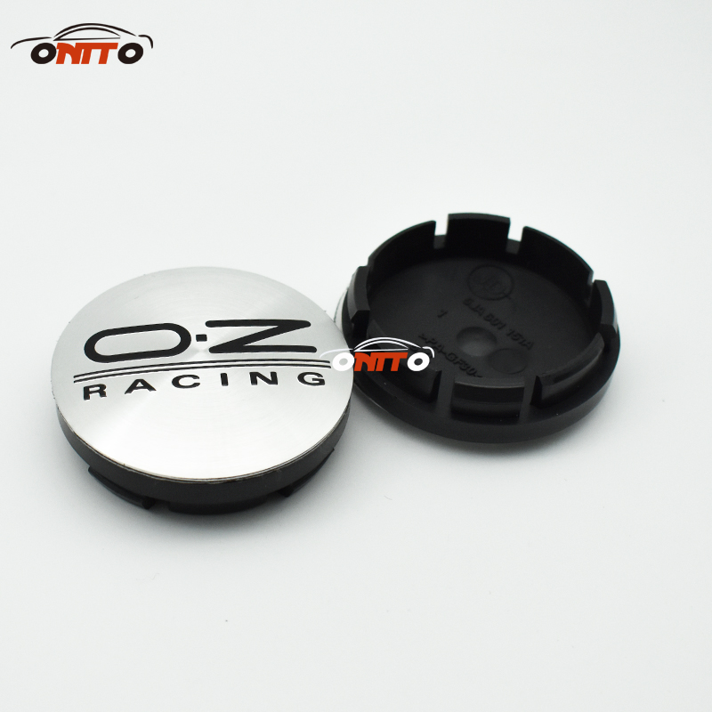 Image 2 - 4pcs oz racing 56mm 60mm O.Z OZ Sticker Wheel Center Hub Caps Wheel Dust proof emblem covers label for skoda audi v w toyota-in Wheel Center Caps from Automobiles & Motorcycles