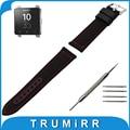 24mm Canvas + Genuine Leather Watch Band + Tool for Sony Smartwatch 2 SW2 Watchband Fabric Strap Wrist Belt Bracelet Black Brown