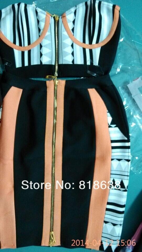New Et Parti Bandage Style 2016 2 Imprimer Pièce Coral Robes Robe Hl7125 Deux Pièces Bustier FRxqUdx