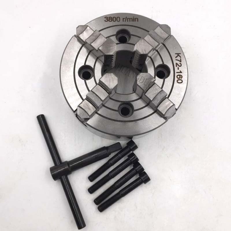 K72 160 4 顎チャック/160 ミリメートルマニュアル旋盤チャック/4 ジョー独立したチャック 6 ''4 顎チャック可逆  グループ上の ツール からの チャック の中 3