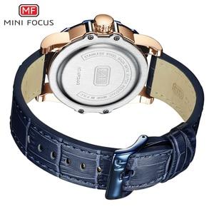 Image 5 - MINI FOCUS Blue Leather Quartz Watches Men Luxury Army Sports Wristwatch Man 3 Bar Waterproof Top Brand Relogios Masculino 0249G