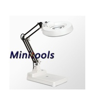 Desktop table 30 LED Lights 10X 20X magnifying glass magnifier for reading repairing and inspection