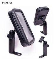 מחזיק טלפון אופני אופנוע iPhoneX משופר עמיד למים מראה אחורית 8 7 טלפון תיק בעל 6GPS Moto Celular Para Suporte
