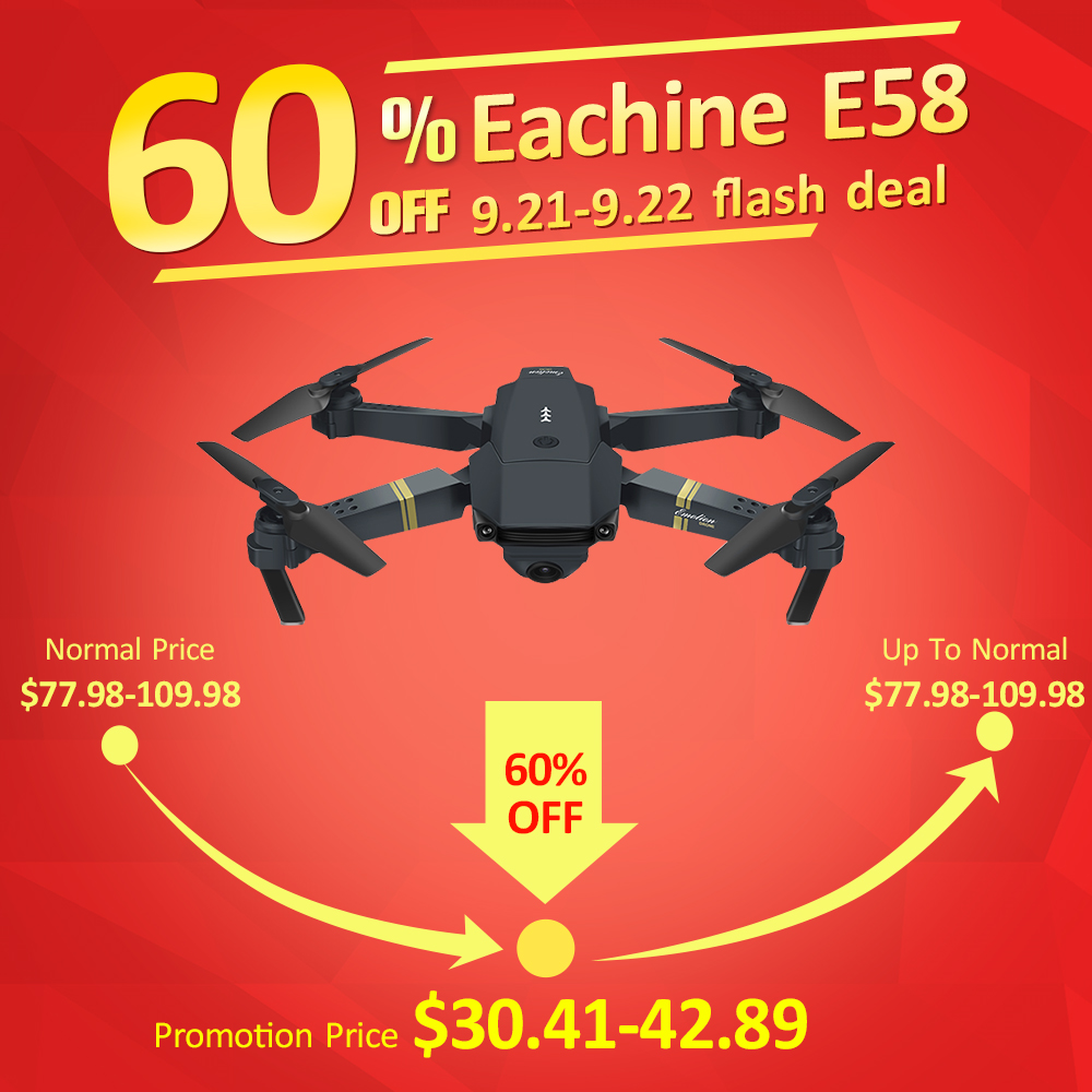 Eachine E58 WIFI FPV With Wide Angle HD Camera High Hold Mode Foldable Arm RC Quadcopter Drone RTF VS VISUO XS809HW JJRC H37 пропеллеры eachine для e58 each 798063