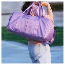 Fitness Bag Black Gym Women Shoe Compartment Waterproof Sport Bags for Training Yoga Men For