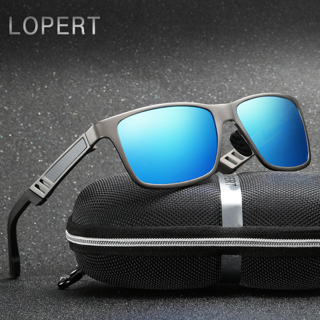 c24d2f63252 LOPERT HD Aluminum Magnesium Polarized Sunglasses Men Brand Designer  Driving Glasses Square Sun Glasses For Men UV400