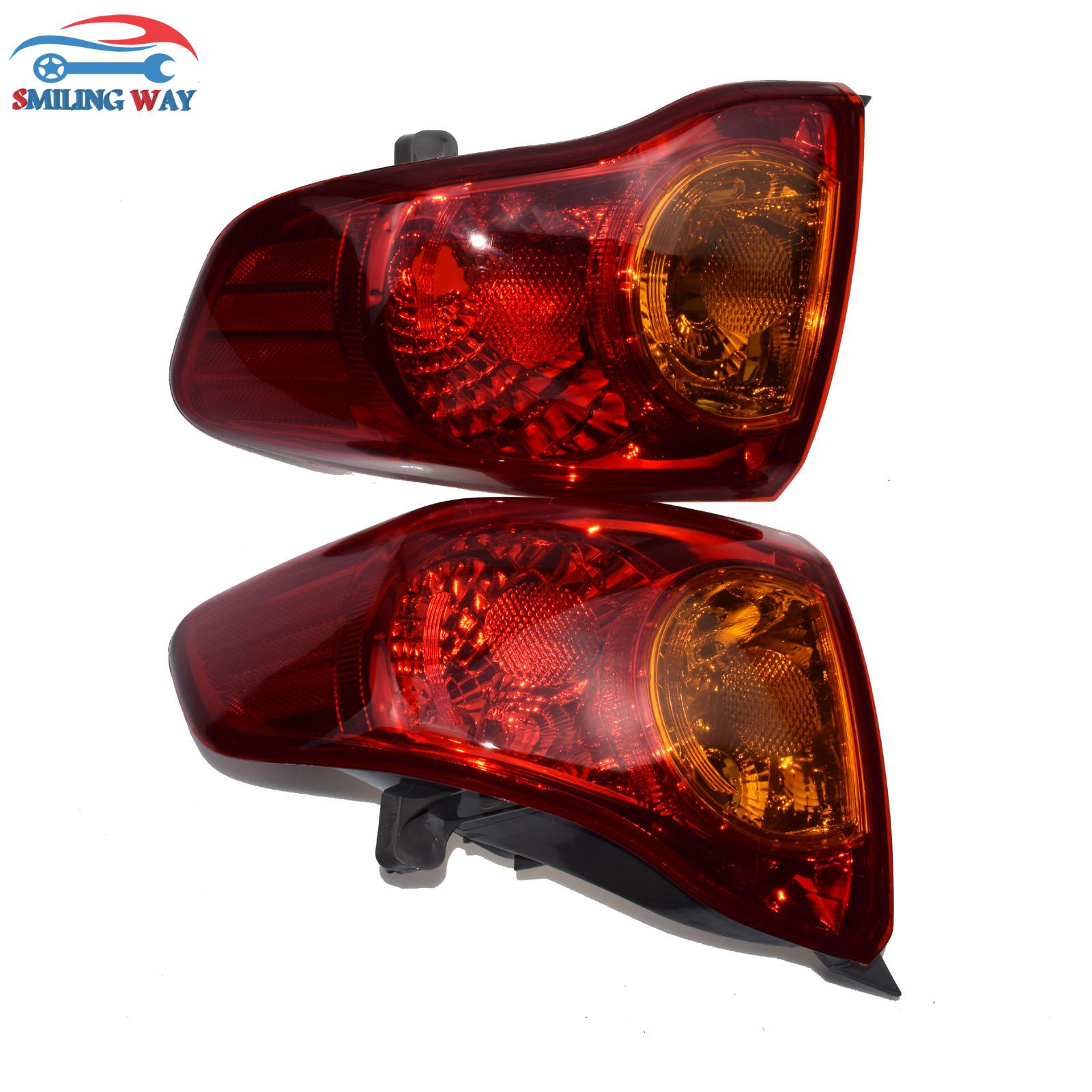 Smiling Way Taillight Brake Light Lamp Housing Cover Left Right For Toyota Corolla 2009 2010 Oe 8156002460 8155002460