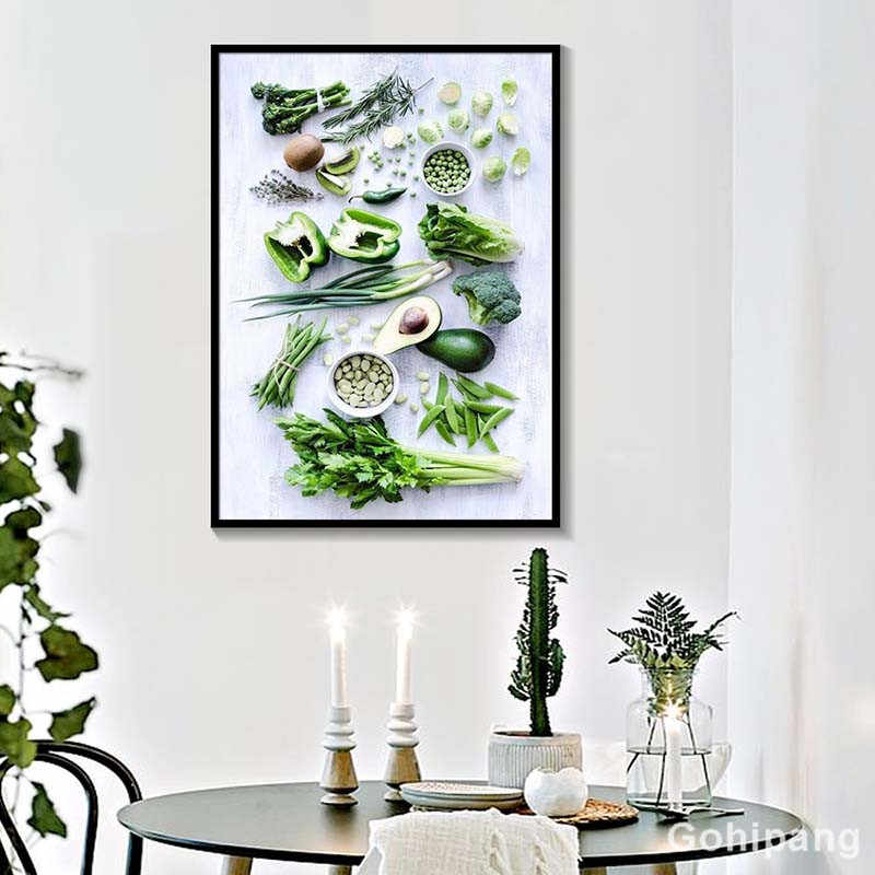 Nordic Minimalist Hd Wall Art Vegetable Fruits Home Decor Pictures Healthy Food Canvas Paintings Modular Kitchen Posters Printed Aliexpress