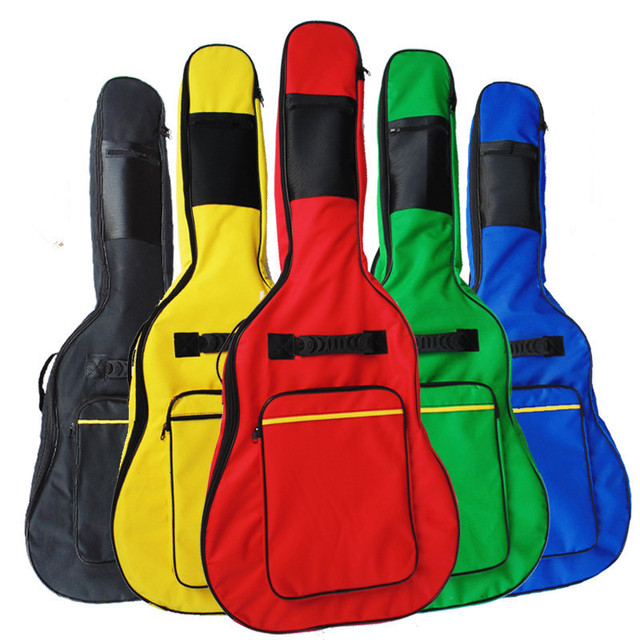 5 colors FD good quality 39 40 41 inch acoustic guitar gig bag case  backpack shoulder padded protection waterproof free shippin