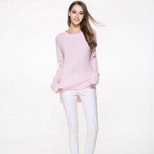2017 Демисезонный новые модные женские туфли с круглым вырезом тонкий основной Для женщин свитер Повседневное теплый вязаный Пуловеры для женщин женские кожа плюс Размеры