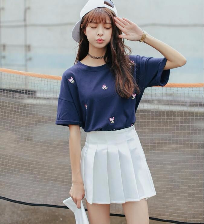 Elegant half pleated high waist mini skirt 1