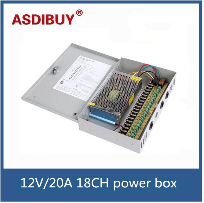 ФОТО 12V/20A 18CH CCTV power supply box / 12V 20A 240W monitor power supply / switch power supply