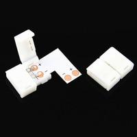 50 bộ/lô 10 mét 2 Pin L T X Hình Dạng PCB DẪN Kết Nối Solderless với 2pin clip cho 12 V 5050 độc màu LED Strip
