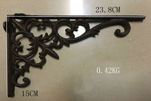 2pcs/ One Pair Antique Cast Iron Heavy Duty Metal Shelf Brackets Wall Mounted Support Display Holder Home Decor