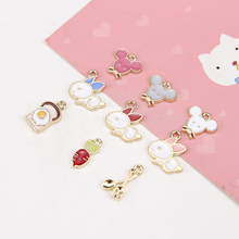 fashion cute cartoon earrings for women and girls creative mouse bunny carrot knife fork fried egg jewelry accessories