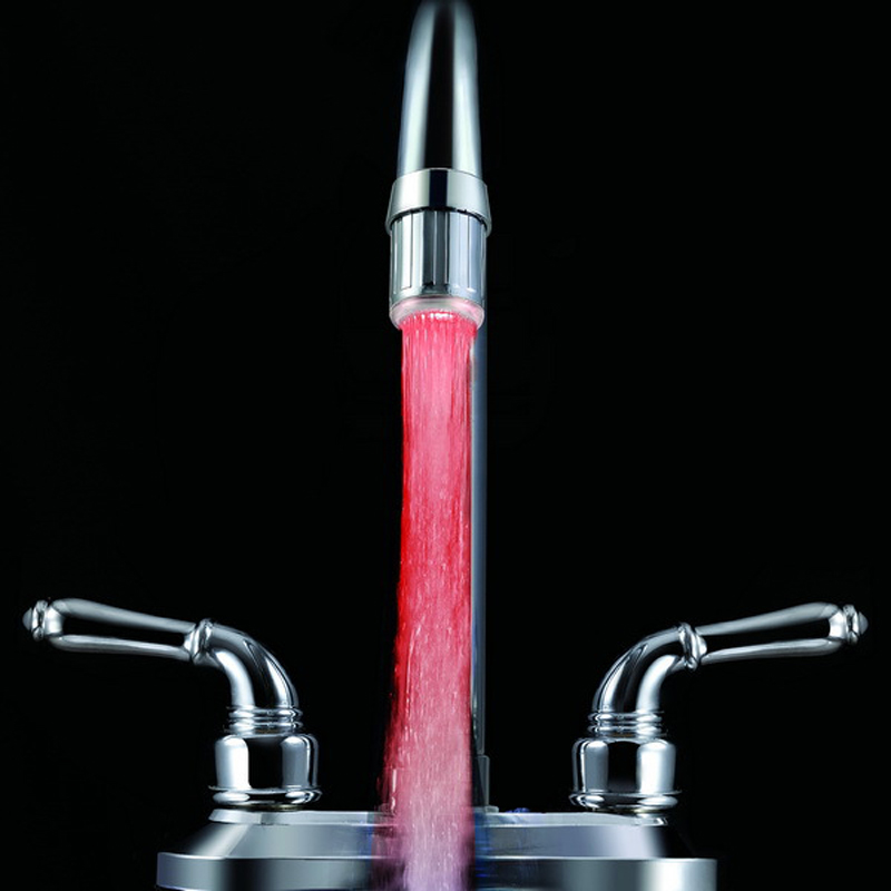 Novelty 7 Colors Changing LED Water Faucet Stream Light (13)